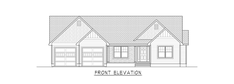 Coastal Homes & Design - The Waverly - Front Elevation