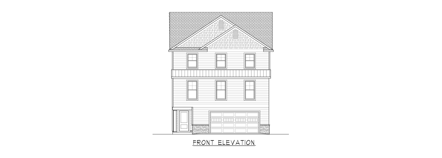 Coastal Homes & Design - The Baywind Front Elevation