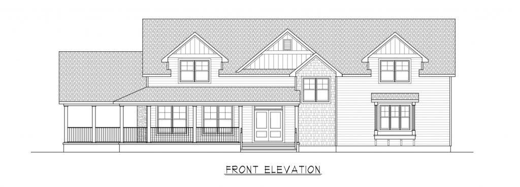 Coastal Homes & Design - The Woodland - Front Elevation