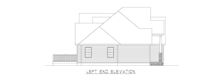 Coastal Homes & Design - The Thomasville - Left End Elevation