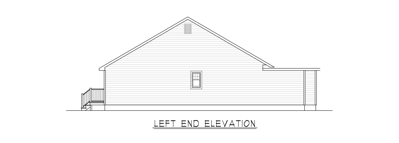 Coastal Homes & Design - The Waverly - Left End Elevation