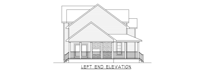 Coastal Homes & Design - The Woodland - Left End Elevation