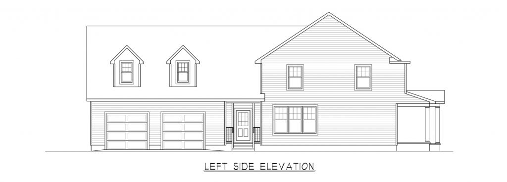 Coastal Homes & Design - The Heritage - Left Side Elevation