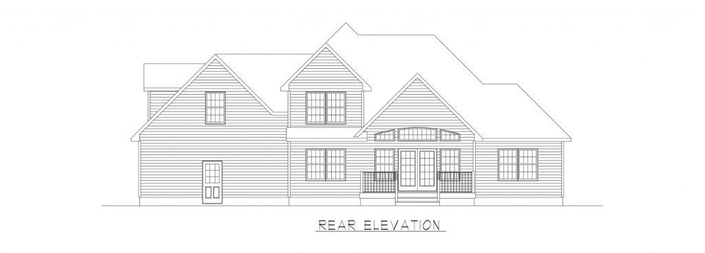 Coastal Homes & Design - The Thomasville - Rear Elevation