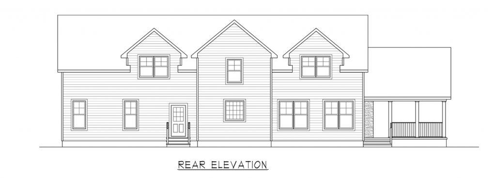 Coastal Homes & Design - The Woodland - Rear Elevation