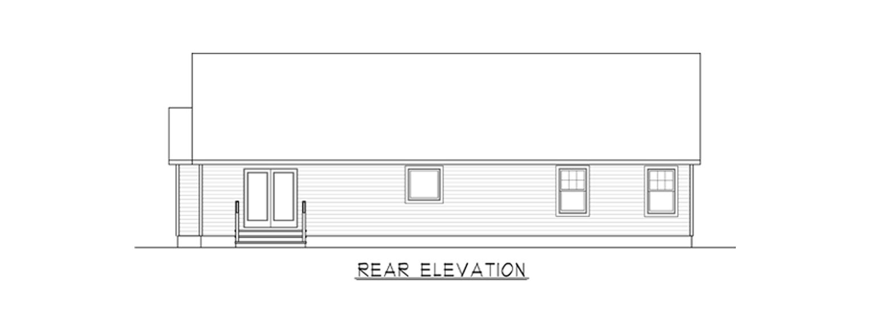 Coastal Homes & Design - The Waverly - Rear End Elevation