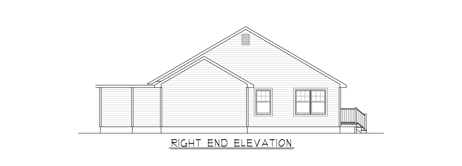 right-end-elevation-Coastal Homes & Design - The Waverly - Right End Elevation
