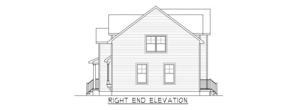 Coastal Homes & Design - The Woodland - Right End Elevation
