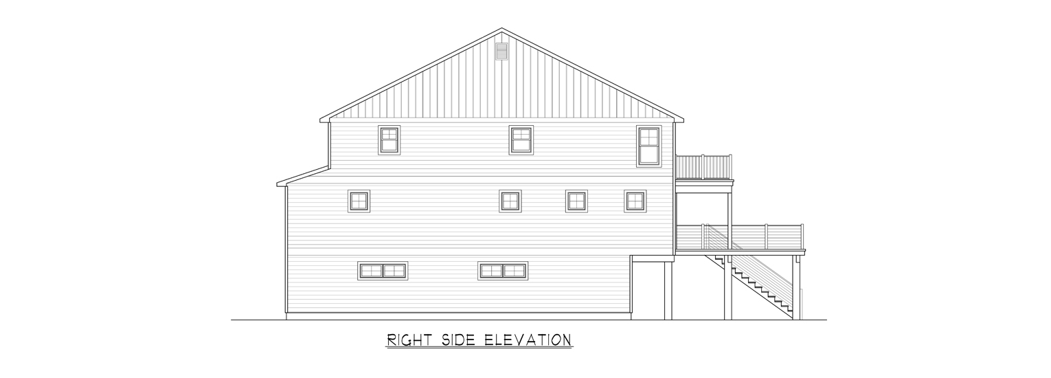 Coastal Homes & Design - The Baywind Right Side Elevation