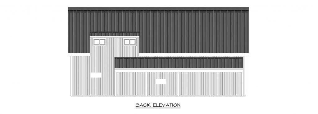 Custom Pole Building Back Elevation