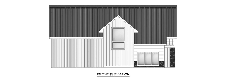 Custom Pole Building Front Elevation