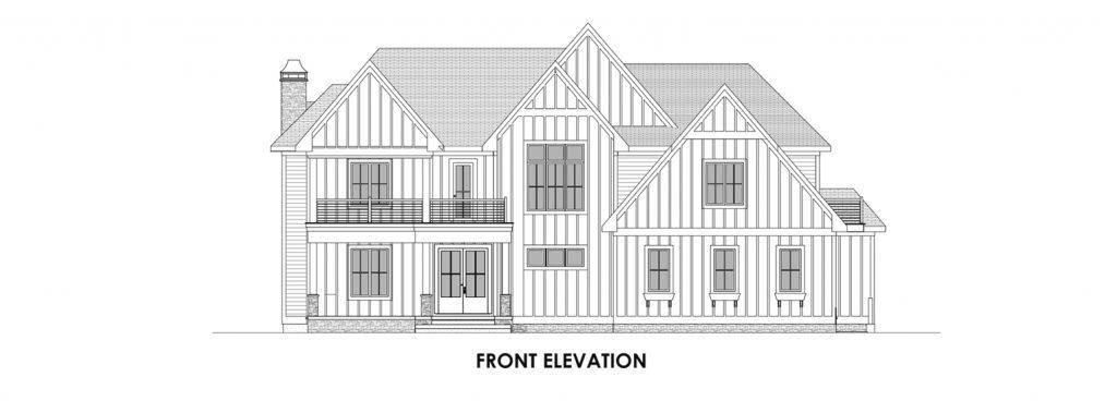Coastal Homes & Design - The Nassau Front Elevation