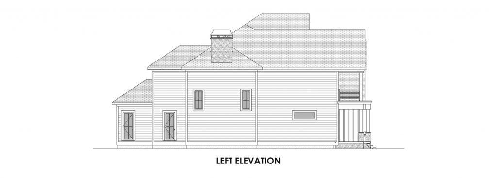 Coastal Homes & Design - The Nassau Left Elevation