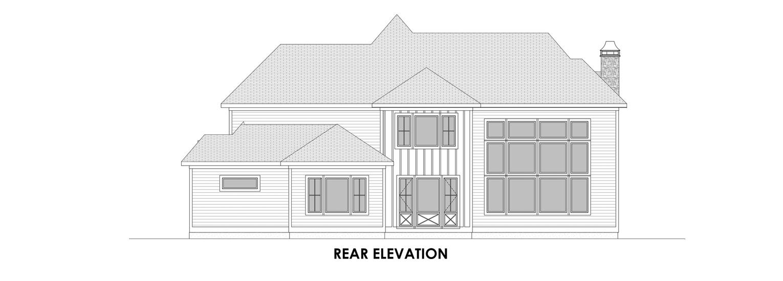 Coastal Homes & Design - The Nassau Rear Elevation