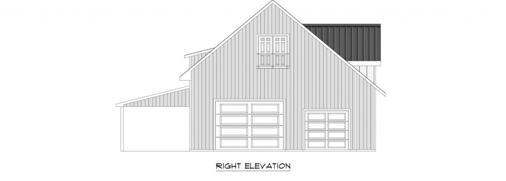Custom Pole Building Right Elevation