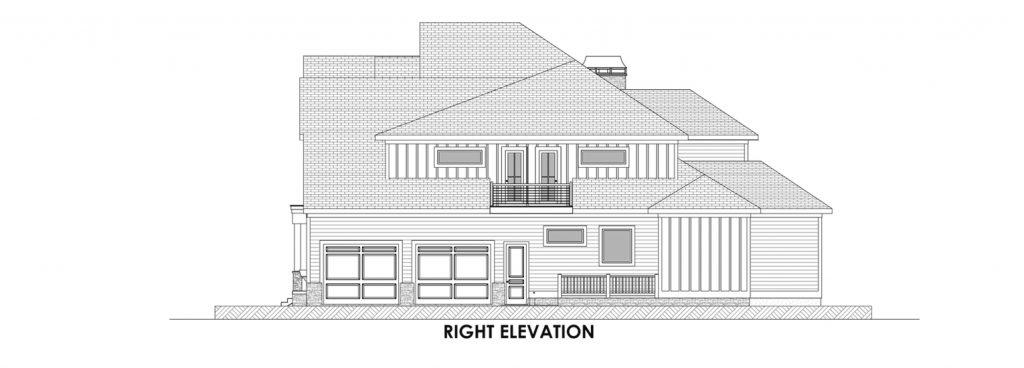 Coastal Homes & Design - The Nassau Right Elevation